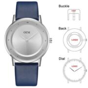Horloges met bedrukking op de wijzerplaat